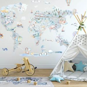 Chlapčenská cestovateľská mapa sveta