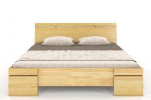 CHROB Drevená posteľ z borovice Sparta Maxi - biela Plocha na spanie:: 200 x 200 cm