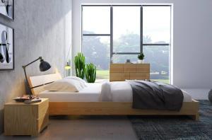 CHROB Masívna posteľ Sandemo z borovice - biela Plocha na spanie:: 200 x 200 cm