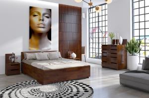CHROB Posteľ s úložným priestorom Bergman High borovica - biela Plocha na spanie:: 120 x 200 cm