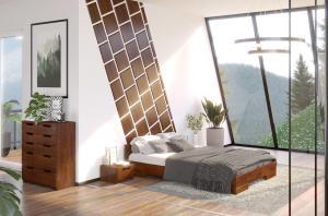 CHROB Posteľ z masívu borovice Spectrum - palisander Rozmer postele: 90 x 200 cm