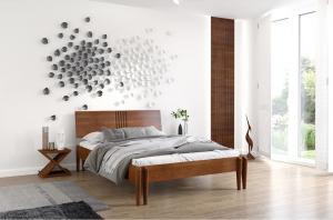 CHROB Posteľ z masívu Poznan buk - prírodná Rozmer postele: 160 x 200 cm