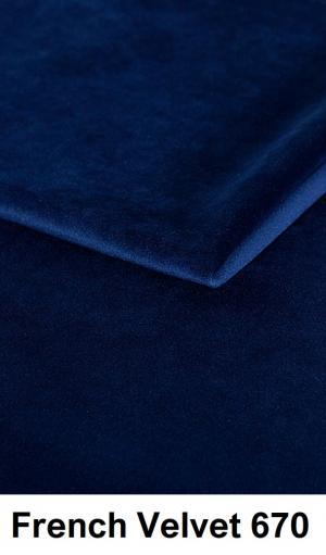 CHROB Posteľ z masívu s čalúneným čelom Frida borovica - dub rustikal Plocha na spanie:: 120 x 200 cm, Farba čela:: French Velvet 659