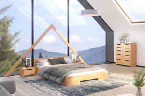 CHROB Posteľ z masívu Spectrum buk - orech Rozmer postele: 90 x 200 cm