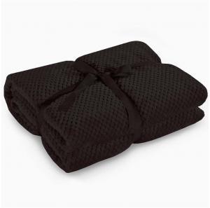 Čierna deka z mikrovlákna DecoKing Henry, 70×150cm