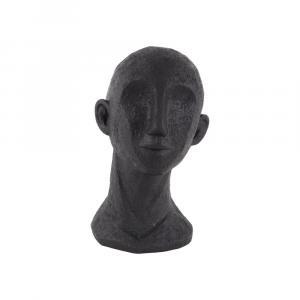 Čierna dekoratívna soška PT LIVING Face Art Dona, 28 cm