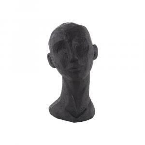 Čierna dekoratívna soška PT LIVING Face Art Laná, 28 cm