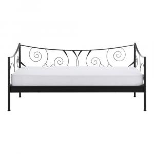 Čierna kovová posteľ Støraa Isabelle, 90×200 cm