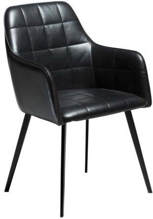 Čierna koženková stolička DAN-FORM Denmark Embrace Vintage