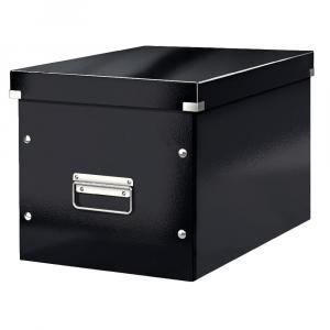 Čierna úložná škatuľa Leitz Office, dĺžka 36 cm