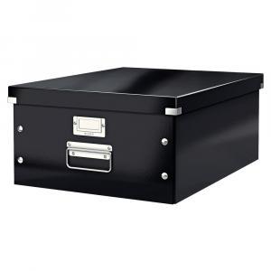 Čierna úložná škatuľa Leitz Universal, dĺžka 48 cm