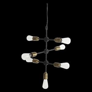 Čierna závesná lampa Molecular 48x58 cm