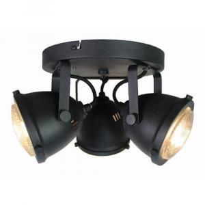 Čierne nástenné svietidlo LABEL51 Spot Moto Tres