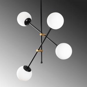 Čierne závesné svietidlo Opviq lights Best