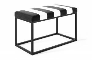 Čierno-biela lavica Cellin 80x40 cm