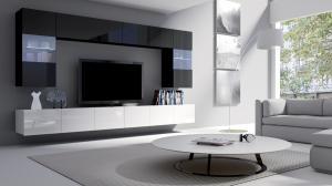 Čierno-biela obývacia zostava Aries