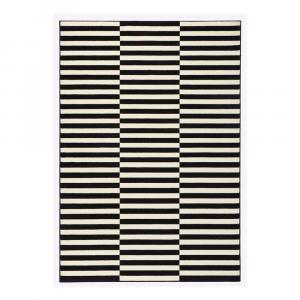 Čierno-biely koberec Hanse Home Gloria Panel, 80×150 cm