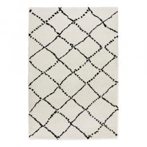 Béžovo-čierny koberec Mint Rugs Hash, 80x150cm