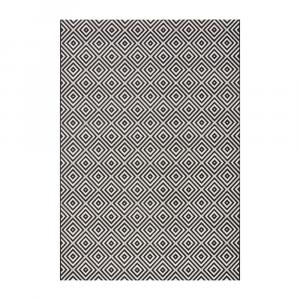 Čierno-biely vonkajší koberec Bougari Karo, 140×200 cm