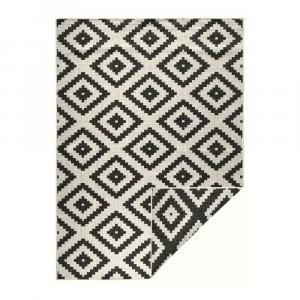 Čierno-krémová vonkajší koberec Bougari Malta, 200 x 290 cm