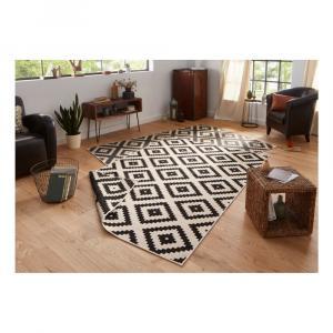 Čierno-krémový vonkajší koberec Bougari Malta, 120 x 170 cm
