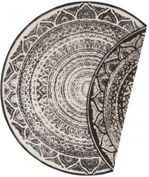 Čierno-krémový vonkajší koberec Bougari Siruma, ø 200 cm