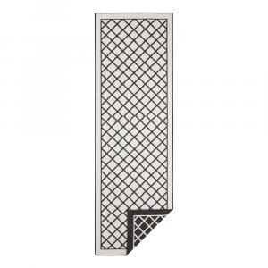 Čierno-krémový vonkajší koberec Bougari Sydney, 80 x 350 cm