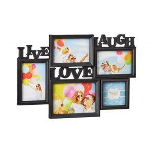 Čierny fotorámik Live Laugh Love, 46x32cm RD9999