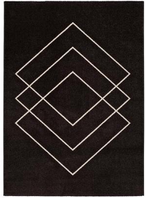 Čierny koberec Universal Breda, 110 x 57 cm