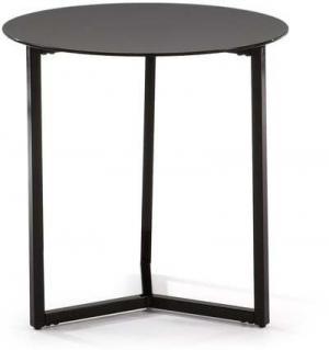 Čierny odkladací stolík La Forma Marae, ⌀50cm