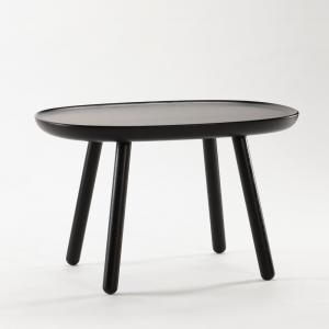 Čierny odkladací stolík z masívu EMKO Naïve, 61 x 41 cm