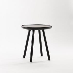 Čierny odkladací stolík z masívu EMKO Naïve Small, ø45cm