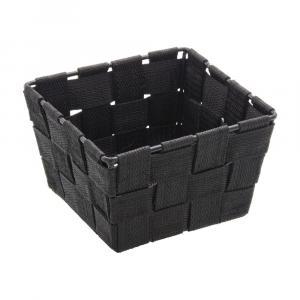 Čierny úložný košík Wenko Adria, 14 x 14 cm