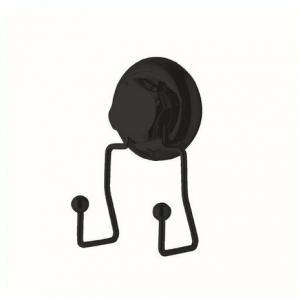 Compactor Dvojitý háčik do kúpeľne Bestlock Black