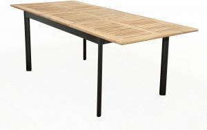 Concept - rozkladací stôl s teakovou doskou 150 / 210x90x75 cm