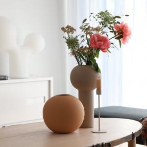 COOEE Design Guľatá váza Ball Cafe Au Lait 20 cm