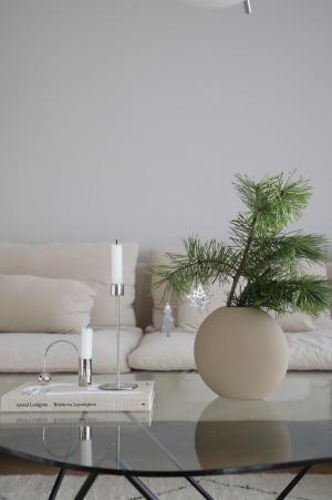 COOEE Design Keramická váza Pastille Sand 20 cm
