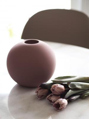 COOEE Design Guľatá váza Ball Cinder Rose 20 cm