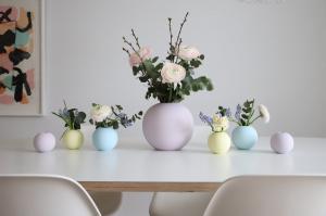 COOEE Design Guľatá váza Ball Lilac 8 cm