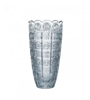 CRYSTAL BOHEMIA Krištáľová brúsená váza Crystal BOHEMIA 30 cm