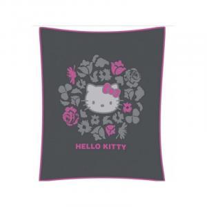 CTI CTI Detská flísová deka 110/140cm HELLO KITTY Rosa