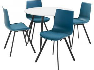 Danish Style Jedálenská súprava Dine 4 + 1, 100 cm, biela/modrá