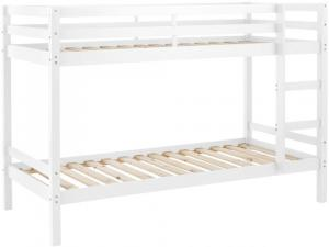 Danish Style Poschodová posteľ Ali I., 208 cm, biela