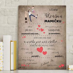 Darčeky pre mamku - Poďakovanie za lásku a starostlivosť - obraz na stenu