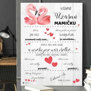 Darčeky pre mamku - Personalizovaná tabuľka s vlastným vyznaním lásky