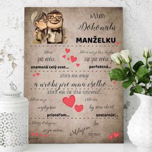 Darčeky pre ženu - Zamilovaný obraz od priateľa či manžela - tabuľka