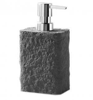 Dávkovač tekutého mydla ARIES, imitácia kameňa, 3 farby - antracit