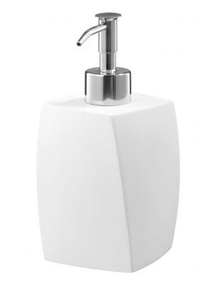 Dávkovač tekutého mydla stojankový BLOCCO 03058, keramika- chróm