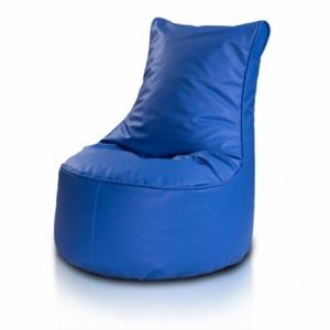 Ecopuf Detský MINI sedací vak ECOPUF - SEAT S - ekokoža E10 - Modrá