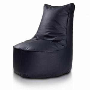 Ecopuf Detský MINI sedací vak ECOPUF - SEAT S - ekokoža E11 - Tmavo modrá